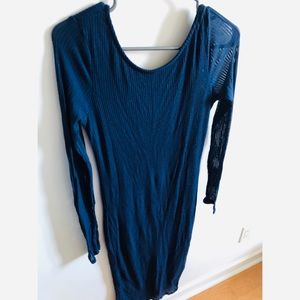 Navy Blue Urban Outfitters Dress